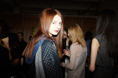Backstage at the Rebecca Taylor Fall 2014 Runway Show