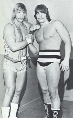 "Randy ""Macho Man"" Savage and his brother ""Leapin'"" Lanny Poffo"