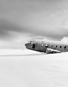 Abandoned Airplane on the South Coast of Iceland