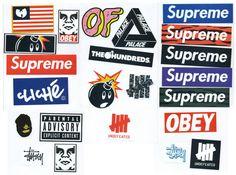 Supreme Sticker Pack - 23 Stickers - FREE SHIPPING WORLDWIDE - Skateboard, Car Bumper, Guitar Case, Laptop Vinyl Decal Stickers
