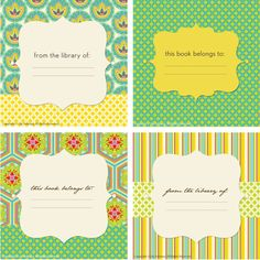 14 best bookplate labels book label templates images on pinterest