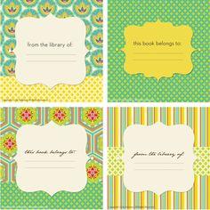 Downloadable Bookplates for an Organized Life via http://lilyashbury.com