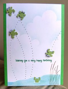 Card using paper punches*