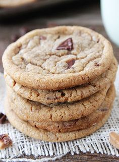 Brown Butter Toffee Chocolate Chunk Cookies ---- Recipes, Desserts, Cakes, Pies