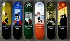Skateboard Decks by Pawel Kozlowski