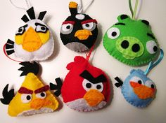 Angry bird ornaments