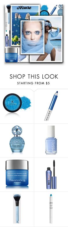 """""""Azure"""" by arethaman ❤ liked on Polyvore featuring beauty, Emani, Marc Jacobs, Essie, Omorovicza, Benefit, NYX and bluebeauty"""