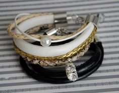 Snake print bracelet