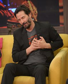 MIAMI, FL - OCTOBER Karla Martinez and Keanu Reeves is on the set of Despierta America at Univision Headquarters on October 2014 in Miami, Florida. (Photo by Gustavo Caballero/WireImage) Keanu Reeves John Wick, Keanu Charles Reeves, Keanu Reeves Zitate, Keanu Reeves Quotes, Keanu Reaves, Little Buddha, My Sun And Stars, Hollywood Actor, Celebs