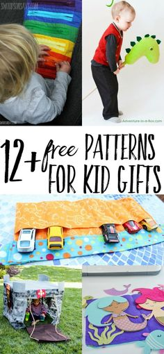 Sewing Gifts For Kids Looking for ideas on what to sew for kid gifts? I have 12 free tutorials and patterns that will delight the toddlers and preschoolers in your life! Free toy sewing patterns don't have to be fussy, check these out and get making. Sewing Patterns For Kids, Sewing Projects For Beginners, Sewing For Kids, Free Sewing, Sewing Ideas, Christmas Sewing Patterns, Baby Sewing Tutorials, Diy Projects, Crochet Projects