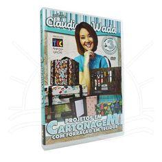 DVD Projetos em Cartonagem com Forração em Tecidos com Claudia Wada