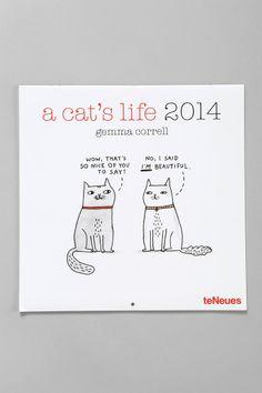 A Cat's Life 2014 Calendar By Gemma Correll