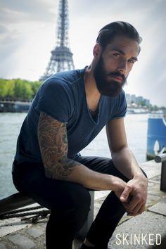 Portrait de Samuel Lhermillier. photographie par Antonio EUGENIO. #tattoo #tatouages #skinked