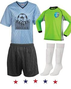 Shop soccer uniforms consisting of soccer jerseys, shorts and socks available in youth and adult sizes. At teamsportsdirect.com