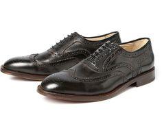 Men's Heyford (Black) Leather Brogue Shoe   H Shoes