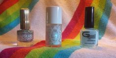 Floss Gloss Dime Piece (1/2 mani), Glitterdaze A Whole New World (1 mani), Glitter Gal Bluemerang (sw)