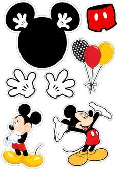 Bolo Mickey Baby, Bolo Do Mickey Mouse, Mickey Mouse Cake Topper, Fiesta Mickey Mouse, Theme Mickey, Mickey Party, Minnie Mouse Party, Cupcakes Mickey, Imprimibles Mickey Mouse