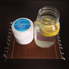 Put 1tsp of MSM to your daily lemon water. MSM is great for your skin, hair growth, flashes out toxins, promotes healing and repair of cells