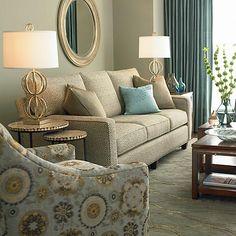 HGTV HOME Custom Upholstery Medium Sofa #bassettfurniture #hgtv