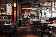 Vincent Cafe & Cocktail Bar, Liverpool. restaurant interior design by DesignLSM. Photography (c) James French Photography