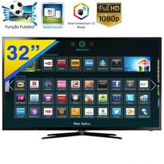 "TV LED Smart 32"" Samsung Full HD com Wi-Fi e Bluetooth Integrados, GINGA, Wide Color Enhancer e Função Futebol - 32F5500"