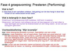 Deel 4 in het 5-luik groepsvorming: na forming (oriëntatie), norming (normeren) en storming (presenteren), nu de performing-fase. In deze... Highly Effective People, Leader In Me, Beginning Of The School Year, 7 Habits, School Teacher, Things To Know, Classroom, Seo, Teaching