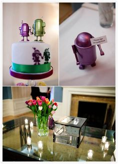 I like the little guest book robot!
