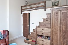 Magnificent Bunk Beds With Stairs convention London Contemporary Kids Remodeling ideas with apartment Bed-decks bedroom storage conversion cool loft bed mezzanine storage storage ideas storage solutions