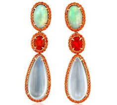 Yael Designs Blaze opal and moonstone earrings