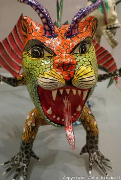 Fanciful papier mache sculpture in the Museum of Popular Art, Mexico City. The Museo de Arte Popular, which opened in 2006, showcases folk a...