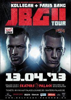 Kollegah Farid Bang JBGII | tour one sheet Farid Bang, Punchline Rap, Eminem, Movies, Movie Posters, Film Poster, Films, Popcorn Posters, Film Books