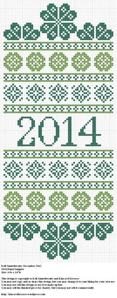2014 Band Sampler cross stitch