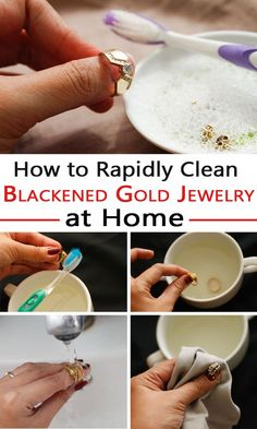 How to Rapidly Clean Blackened Gold Jewelry at Home