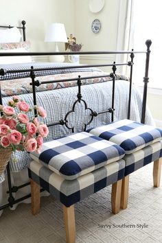 Savvy Southern Style : Navy and Pink Guest Bedroom for Spring . Savvy Southern S White Bedroom Furniture, Home Bedroom, Bedroom Decor, Bedroom Black, Master Bedroom, Bed Furniture, Bedroom Ideas, Bedroom Neutral, Bedroom Simple