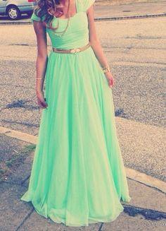 Prom Dress,Elegant Cap Sleeve Prom Dress,Long Prom Dresses,Evening Formal Dress,Women Dress