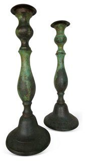Iron Candlesticks, Pair