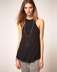 96824160cd2 LnA Cut Away Tank Online Shopping Clothes, Asos Online Shopping, Wardrobe  Basics, Latest