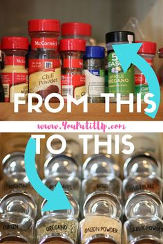 A cute and functional way to organize spices