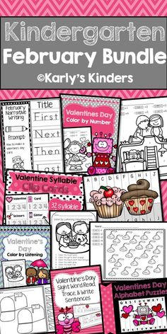 Bundle up and save big on this compilation of all of my February products (124 pages)! This packet includes several valentine's day and groundhog day themed activities that cover a wide range of skills including procedural writing, narrative writing, counting syllables, sight word trace and write sentences, no prep addition worksheets, color by number, color by letter, color by listening, and alphabetical order puzzles.
