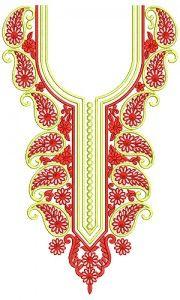 8859 Neck Embroidery Design