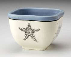 Laura Zindel Design - Small Square Bowl: Starfish, $52.00 (http://www.laurazindel.com/small-square-bowl-starfish/)