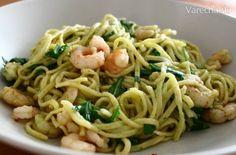 Pesto, Spaghetti, Ethnic Recipes, Food, Meal, Essen, Hoods, Meals, Eten