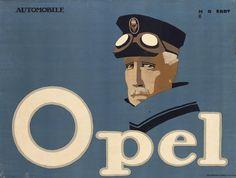 """Exponat: Plakat: Erdt, Hans Rudi """"Automobile Opel"""", 1911"""