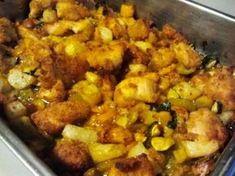 Bocconcini di Pollo al forno con Dadolata di Verdure