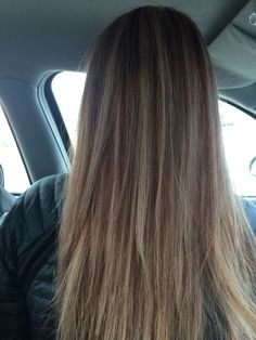 blonde highlights red brown low lights . love my hair