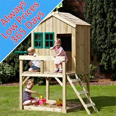 TP Forest Cottage Wooden Playhouse