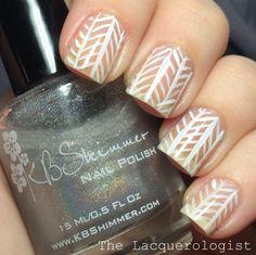 The Lacquerologist: Herringbone Mesh Nail Art!