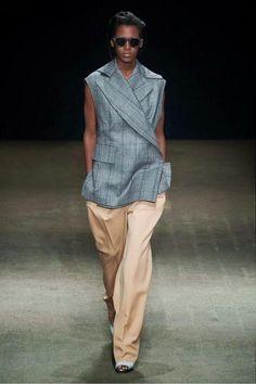 sleeveless jacket runway - Google Search