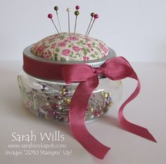 cute idea for gifts could use candy too not just for sewing