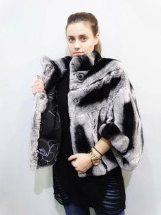 Fur CapeFur Cape JacketRex Rabbit FurReal Fur by FilimegasFurs Rabbit Fur Jacket, Fur Cape, Cape Jacket, Rex Rabbit, Bat Sleeve, Winter Jackets, Coats, Sleeves, Model